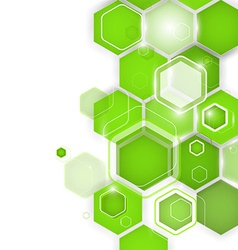 Abstract green background hexagon vector image vector image