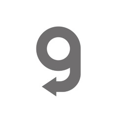 Letter G Logo Concept Icon vector image vector image