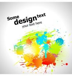paint splash vector image vector image