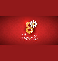 8 march greeting card or banner vector