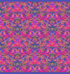 Abstract geometrical polygonal floral pattern vector