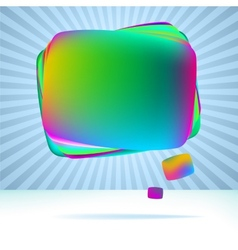 Abstract speech bubble background EPS8 vector