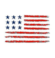 American flag grunge celebration Independence Day vector
