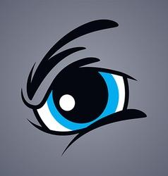 Angry monster eye vector