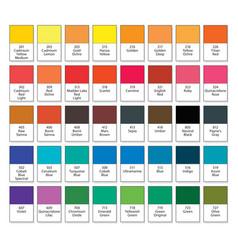 Aquarelle basic palette artistic paint set na 40 vector