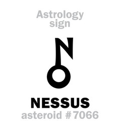 astrology asteroid nessus vector image