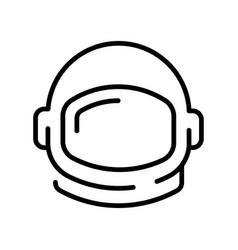 Astronaut or cosmonaut helmet monochrome contoured vector