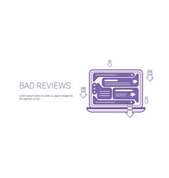 bad reviews negative feedback template web banner vector image