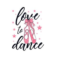 ballerina pink glitter shoes print design vector image