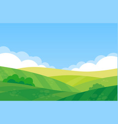 beautiful landscape farm field vector image