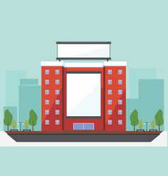 Billboard on the building vector