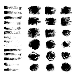 black grunge brushes vector image