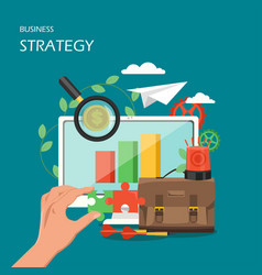 Business strategy flat style design vector