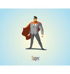 Businessman superhero vector
