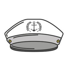 Captain sailor anchor hat vector