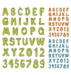 cartoon abc set vector image