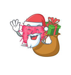 cartoon design pathogenic bacteria santa vector image
