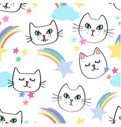 celestial kitties vector image