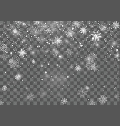 christmas snow christmas background with falling vector image