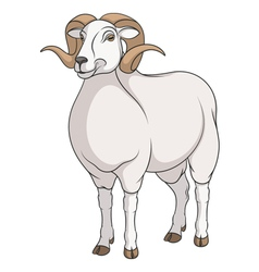 Color image of a ram vector