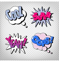 Comic Bubbles with Expressions Pop Art vector image