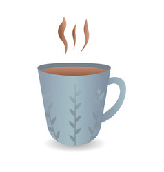 cup of fresh coffee flat vector image