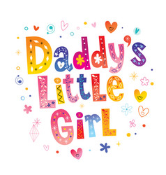 daddys little girl vector image