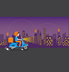 delivery service business vector image