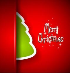 Elegant Classic Christmas flyer with half tree vector image