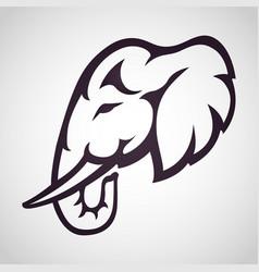 elephant logo icon design vector image
