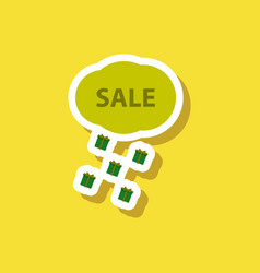fashion patch sale sticker gift rain vector image