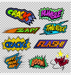Fighting sound effect vector