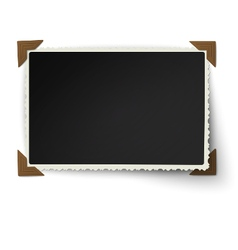 Figured edges photo frame with not fixed corner vector image