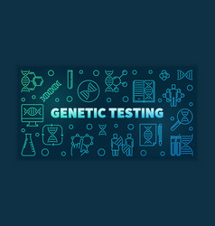 Genetic testing colorful linear banner or vector