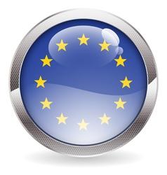 Gloss Button with EU Flag vector
