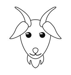 Goat livestock animal design vector