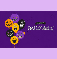 halloween party invitation banner concept vector image