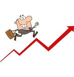 Happy Businessman Running vector image