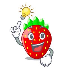 Have an idea fresh strawberry in a bowl cartoon vector