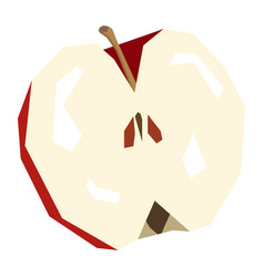Isolated cut apple vector