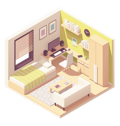 isometric teenager or student room vector image