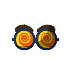 joke glasses toy vector image