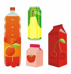 Juice containers vector