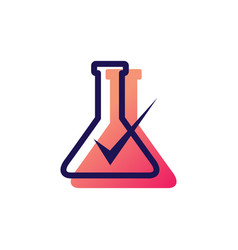 Lab check verified logo icon vector