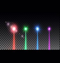 laser beam set vector image