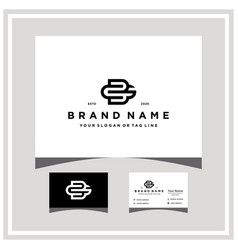 Letter bg logo design and business card vector
