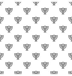 Menorah pattern simple style vector