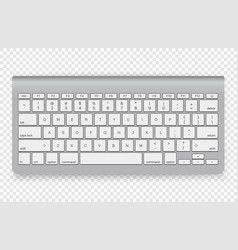 modern wireless keyboard isolated on transparent vector image