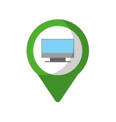 Monitor social media round pointer web vector