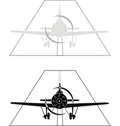monoplane on airport vector image vector image
